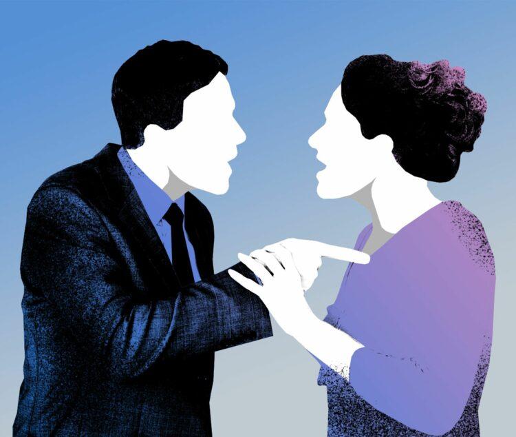 Frau und Mann in Streitsituation