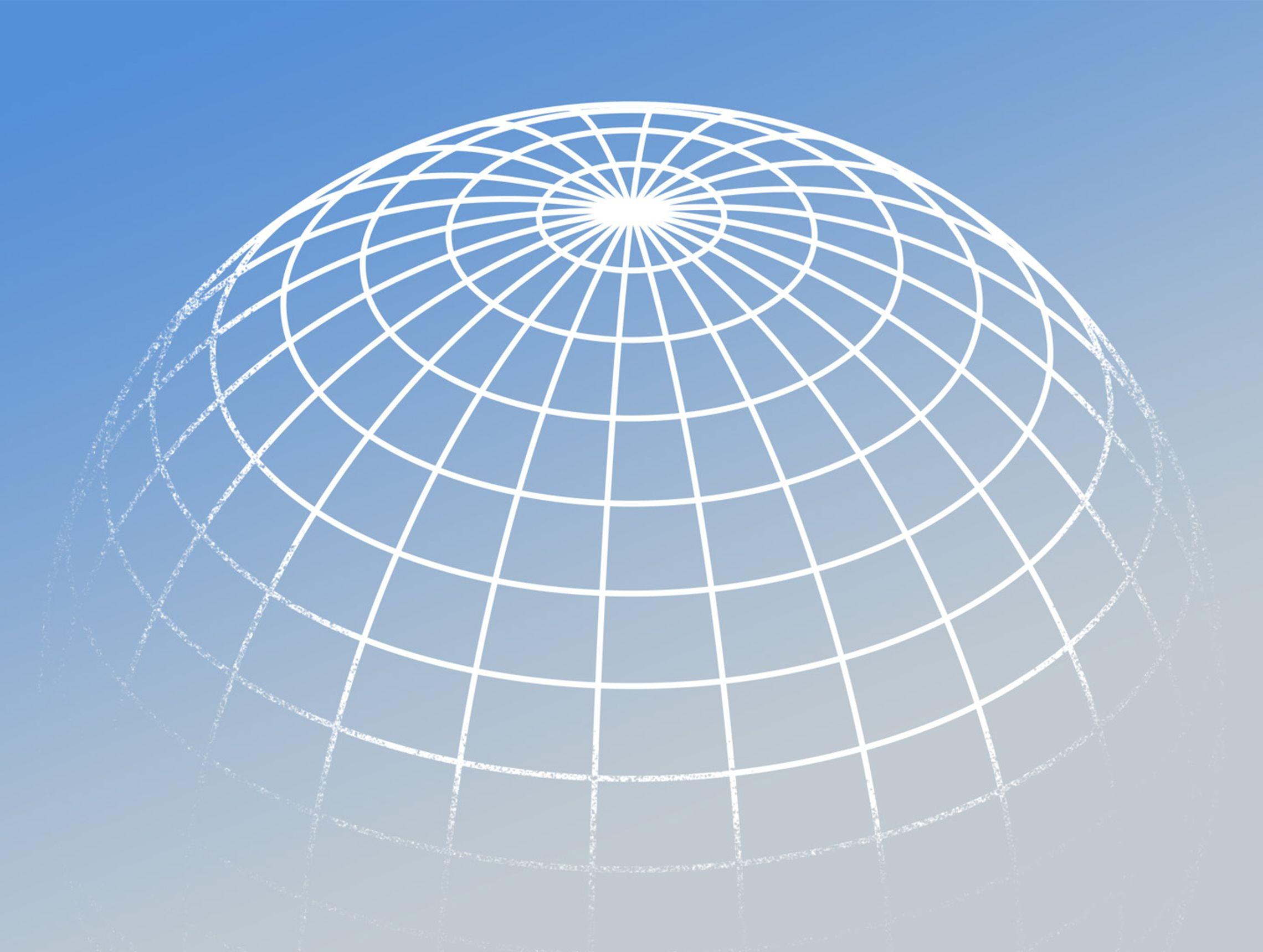 Grafische Darstellung eines Globus PWWL Illustration